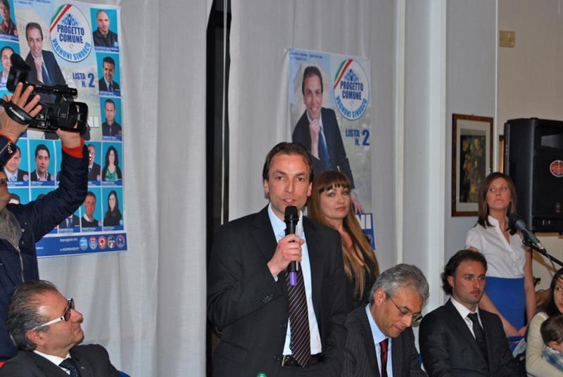 Il candidato sindaco della lista Progetto Comune Massimo Vagnoni