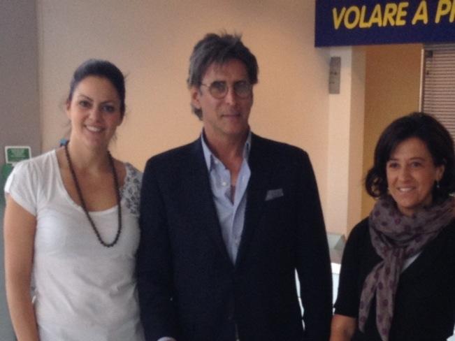 Sandro Assenti con i dirigenti Monica Bruzzese e Laura Cerasa