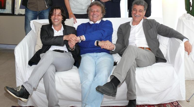 Cabaret amoremio 2012 da sinistra Enrico Piegallini, Enzo Iacchetti e Luigi Merli