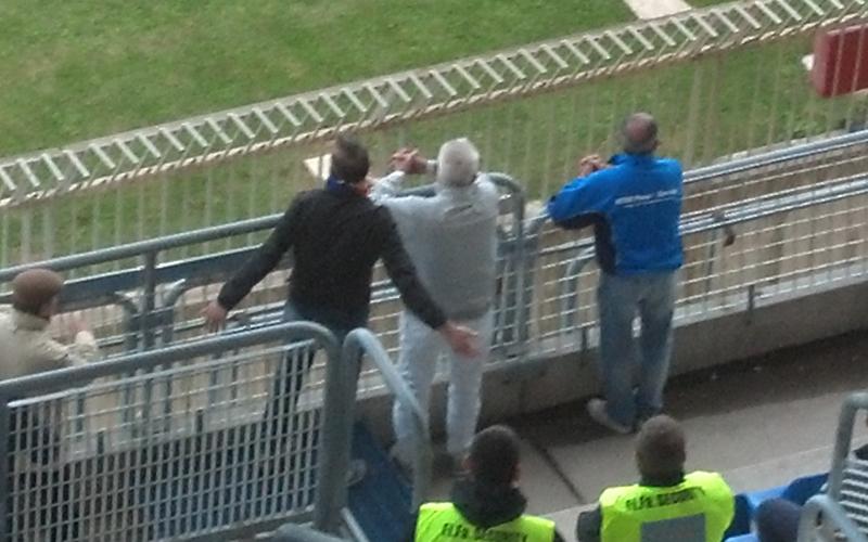 Ferruccio Zoboletti in Tribuna nei minuti finali di Samb-Ancona