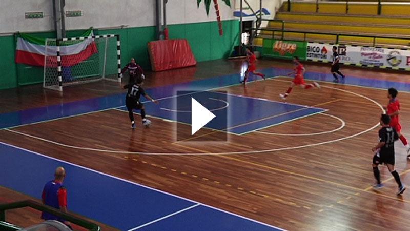 La Futsal Portos durante una gara al PalaSpeca