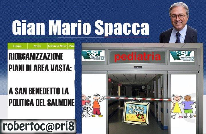 Gian Mario Spacca e la chiusura di Pediatria di Satira Politica Locale