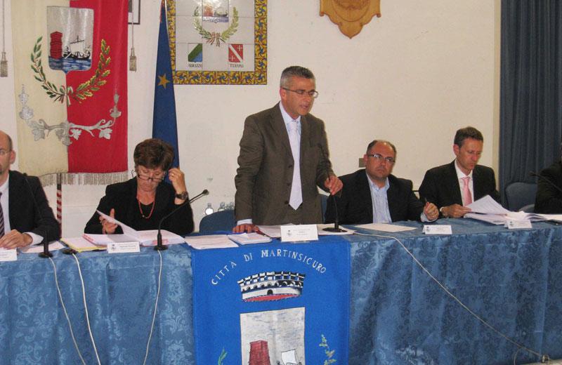 Il consiglio comunale di insediamento dell'amministrazione Camaioni