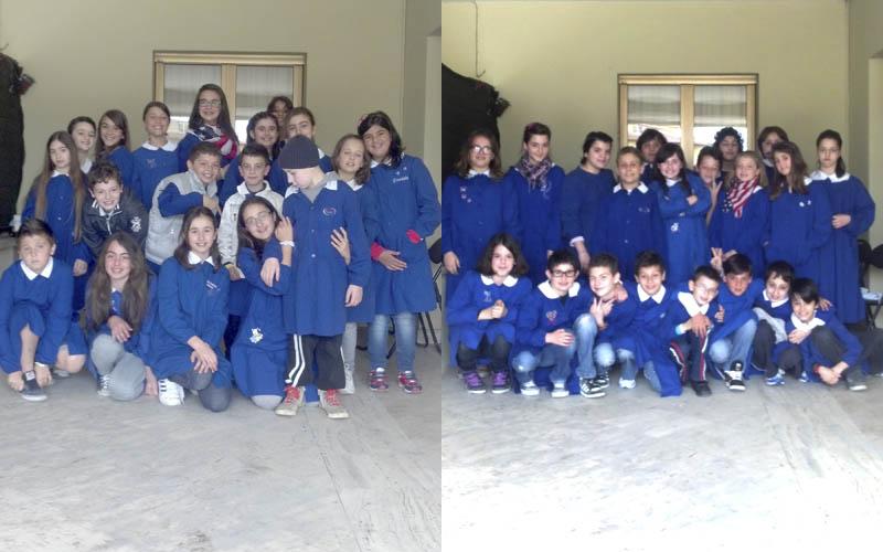 La 5 B e la 5 A della scuola Speranza