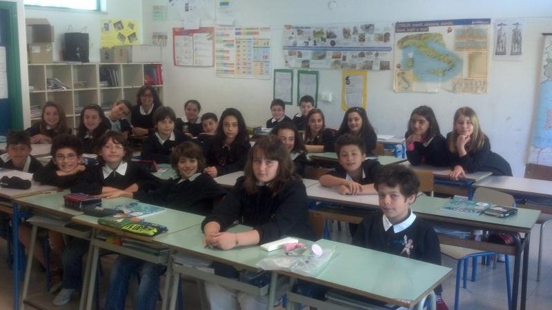 La classe 5 A della scuola Bice Piacentini