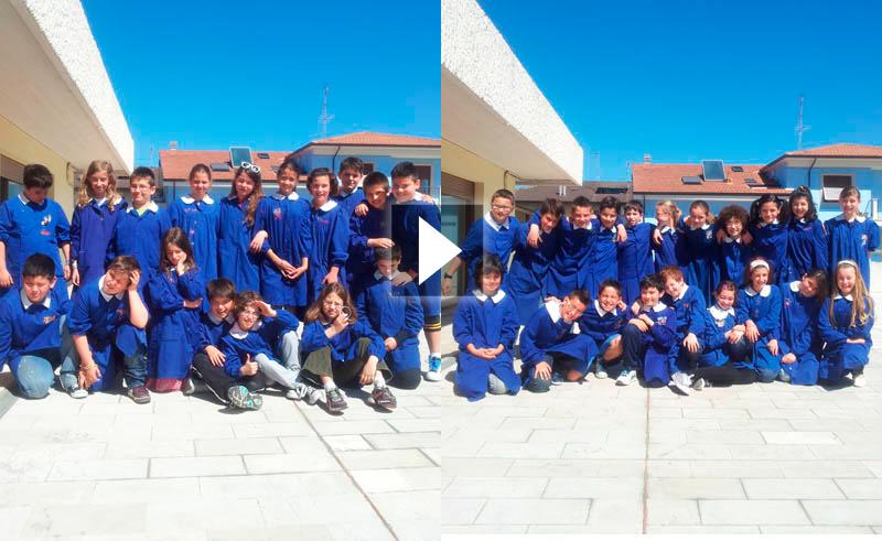 Le classi 5 C e 5 D della scuola Speranza nella redazione di Riviera Oggi