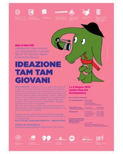 Locandina laboratorio cinema Ideazione Tam Tam del 1 e 2 giugno