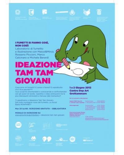 Locandina laboratorio fumetto Ideazione Tam Tam del 1 e 2 giugno