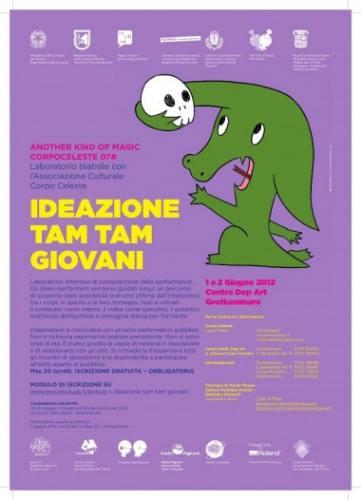 Locandina laboratorio teatrale Ideazione Tam Tam del 1 e 2 giugno