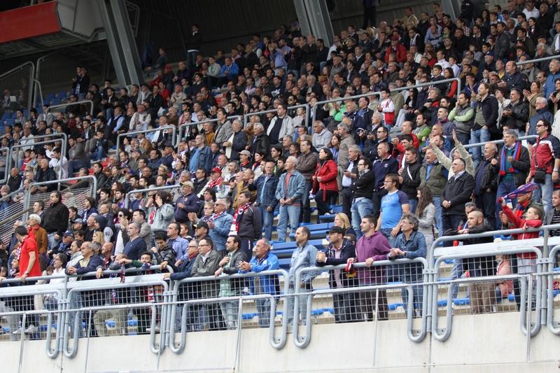 Tifosi della Samb in tribuna