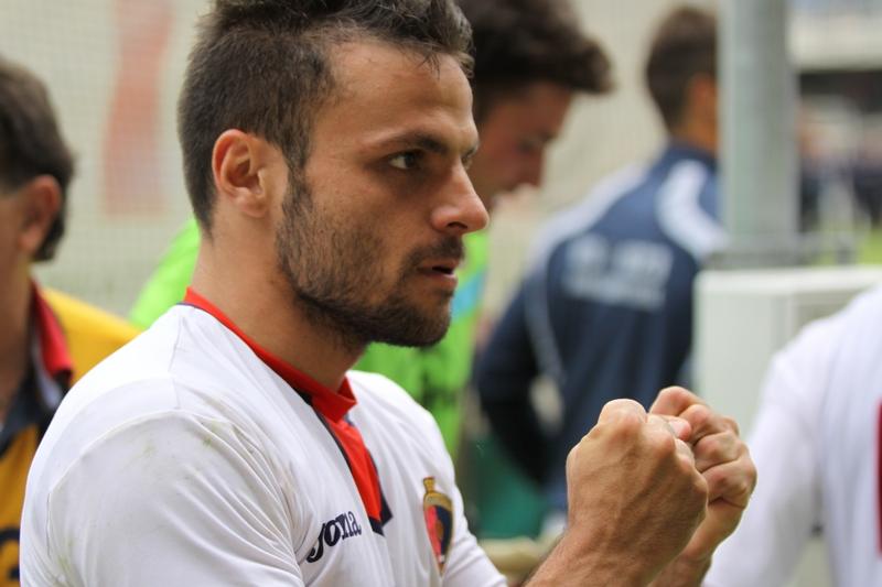 Samb-Este (1-0)-foto di Matteo Bianchini: Napolano festeggia il gol