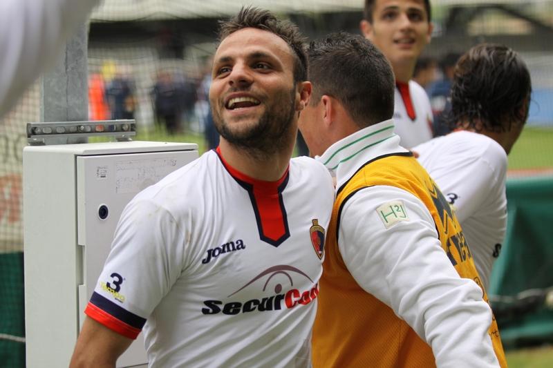 Samb-Este (1-0), il sorriso di Napolano dopo il gol (bianchini)