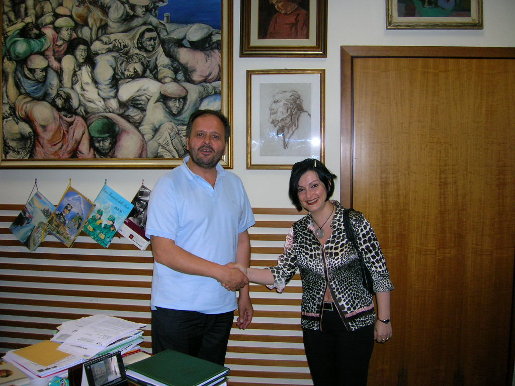 Samuela Isopi con il Sindaco Gaspari