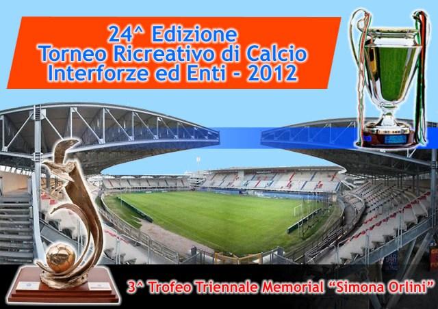 Manifesto 24esima edizione Torneo di calcio Interforze ed Enti