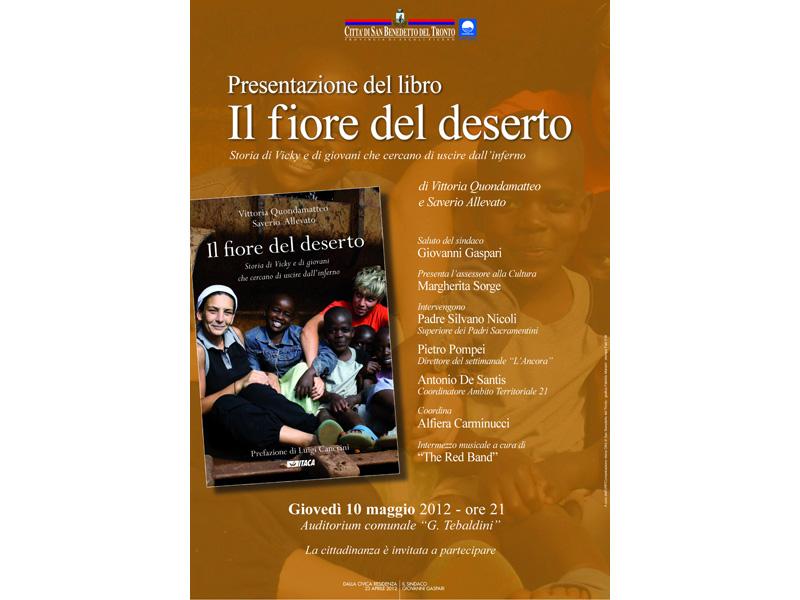 Il comune di San Benedetto presenta il libro di Vittoria Quondamatteo