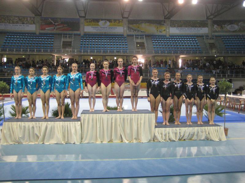 Le atlete sul podio