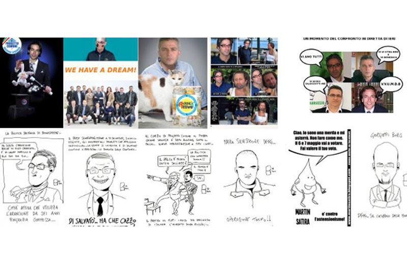 Alcune delle vignette di Martin Satira