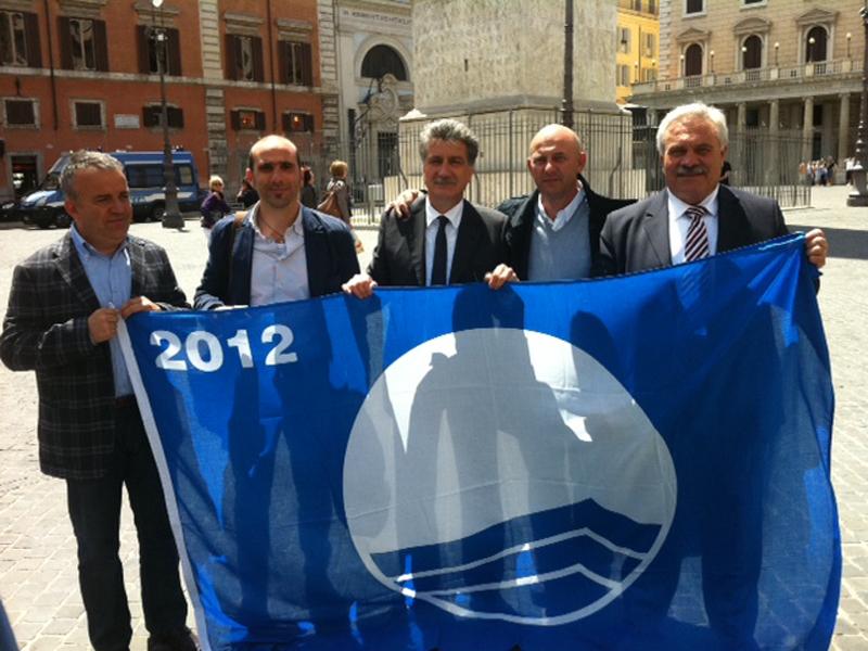 La premiazione delle bandiere blu
