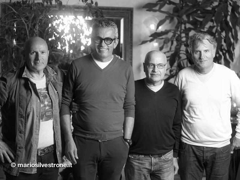 Da sinistra: Mario Rosetti, Valerio, Lino Rosetti e lo stilista Massimo Rebecchi