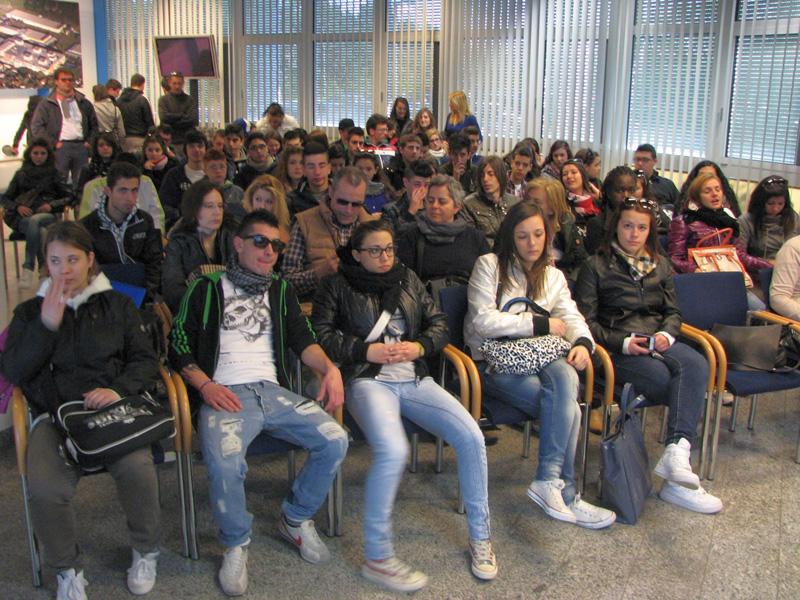 Gli studenti in visita a Steyr