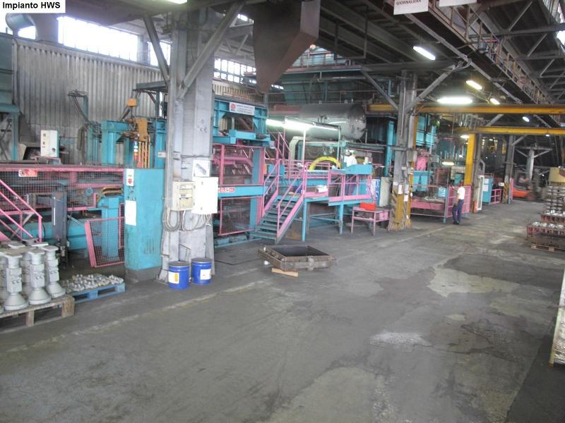 Uno degli impianti della fonderia Veco di Martinsicuro che da domani tornerà in funzione