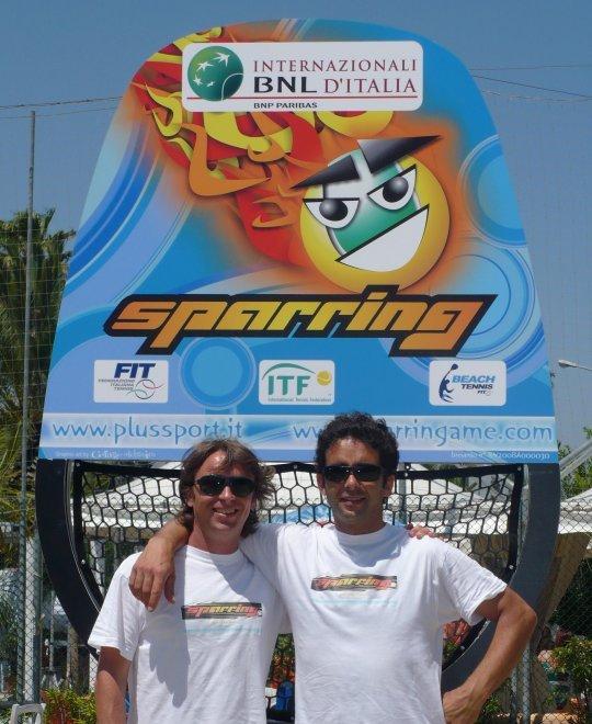 beach tennis - sparring