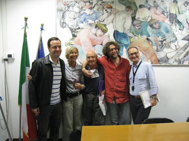 Da sinistra: Alceo Lucidi, Margherita Sorge, Giuseppe Gennari, Maurizio Silvestri, Giuseppe Cappelli