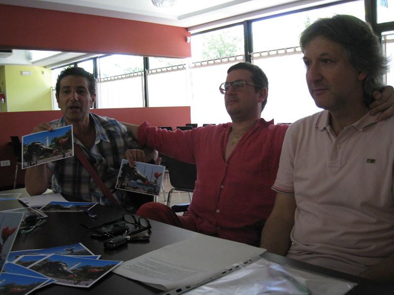 Da sinistra: Massimo Bartolozzi, Jonni Perozzi, Alfredo Vitali