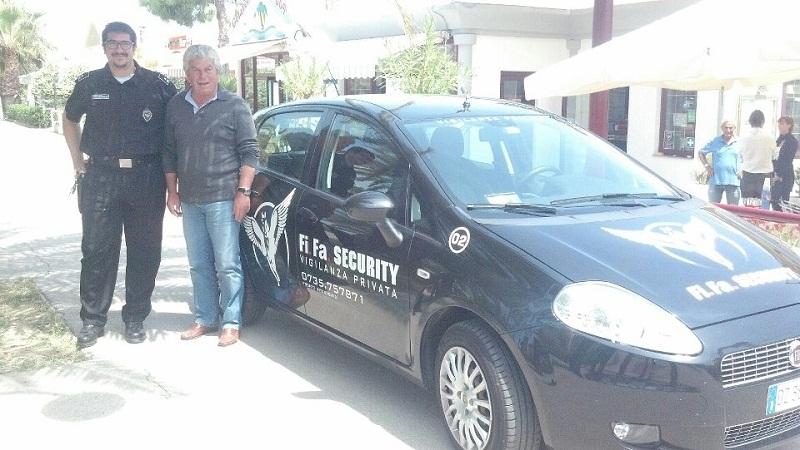 Dante Caucci della Fifa Security e Giuseppe Ricci dell'Itb