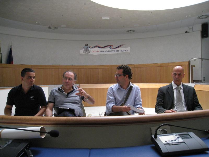 Da sinistra: Piergiorgio Federici, Ado Paolini, Luca Spadoni, Alessandro Antonini