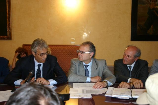 Gianni Chiodi, Valter Catarra e Elicio Romandini