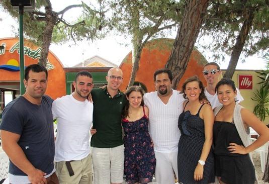 I ragazzi Americani con il consigliere provinciale Raffaele Rossi
