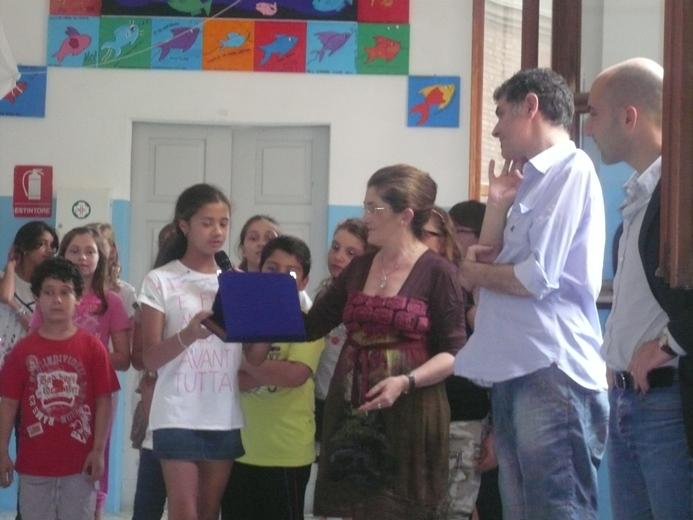 Il giorno della presentazione alla scuola G. Speranza