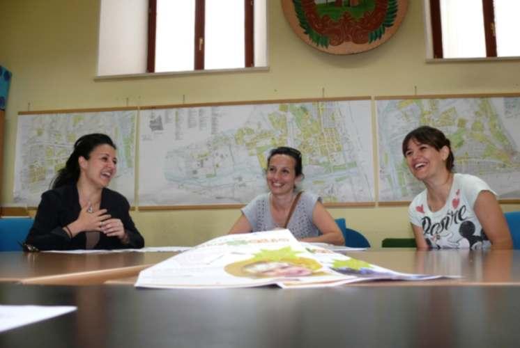 Il Quadrifoglio associazione. Da sinistra Ersilia Vesperini, Francesca Feliziani e Gaia Ronconi