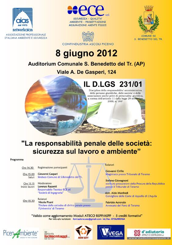La responsabilità penale delle società: sicurezza sul lavoro e ambiente