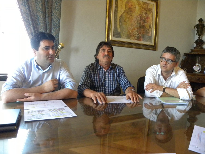 Il Sindaco Stefano Stracci con Fernando Gabrielli e Leonardo Collina
