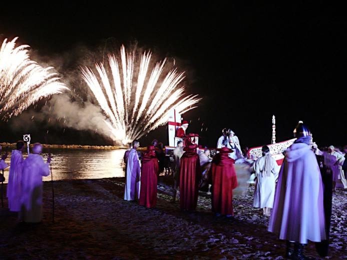Sacra 2012 Lo sbarco del Papa Alessandro III (3)