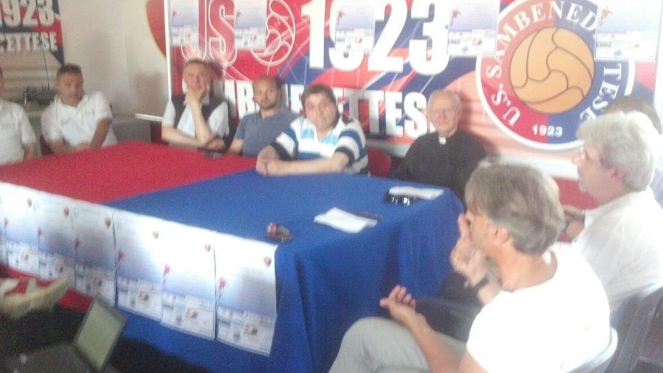 Un momento della conferenza stampa di presentazione del torneo delle parrocchie