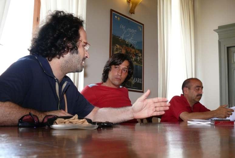 Voci tra le Mura. Da sinistra Federico Paci, Enrico Piergallinie Piergiorgio Cinì