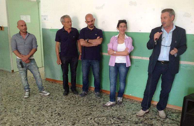 Il dirigente scolastico Ignazio Caputi spiega il progetto del