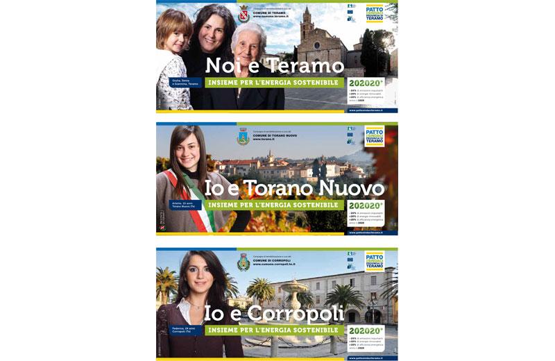 Alcuni dei volti selezionati per la campagna sul risparmio energetico