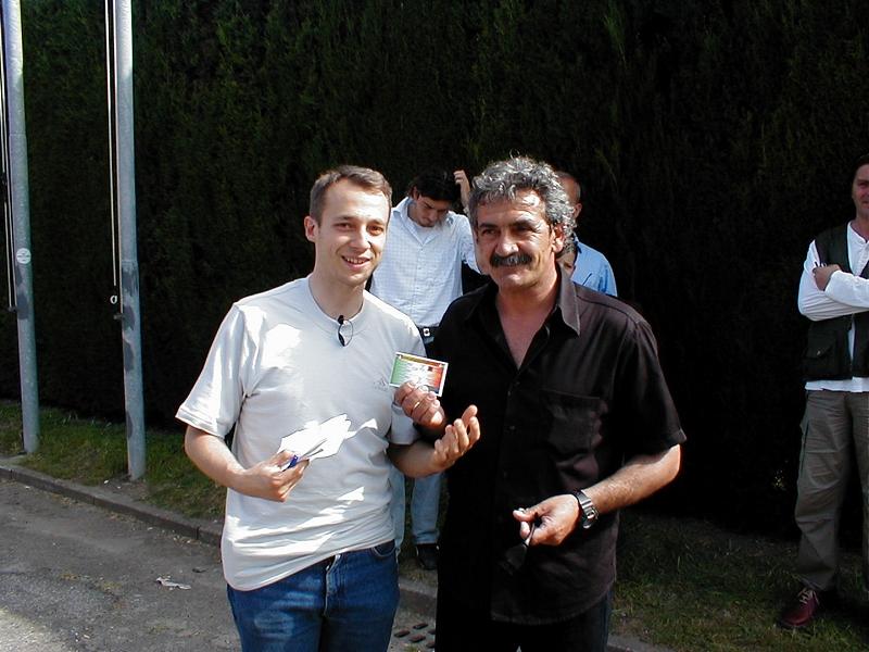 Emidio Oddi ( a destra) è il nuovo allenatore del'Asdl Martinsicuro