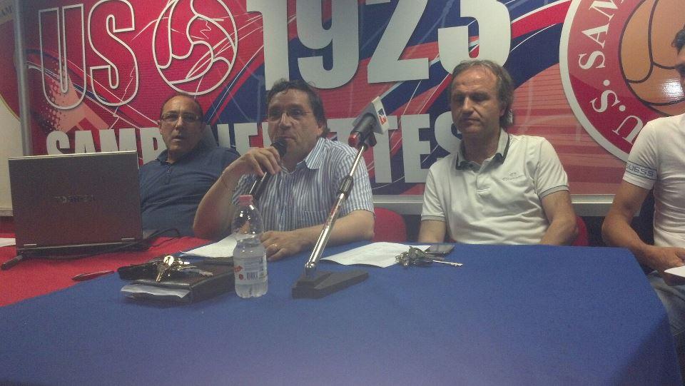 Bartolomei e Pignotti con Enrico Cinciripini durante una conferenza stampa