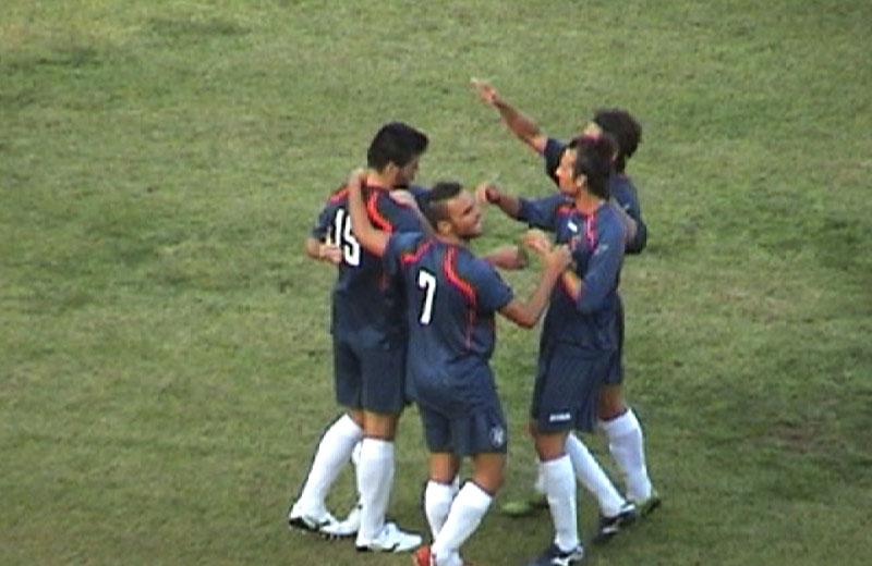 Esultanza dopo il gol di Shiba