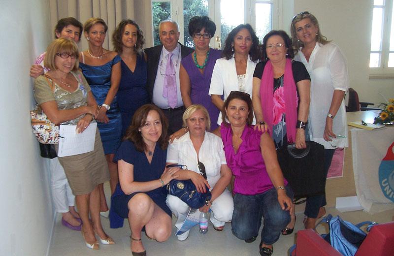 Il gruppo di donne che hanno partecipato al convegno dell'Udc