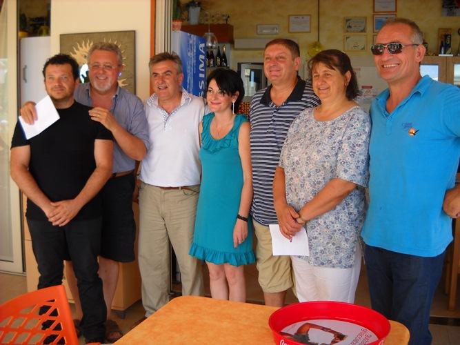 Gruppo promotore dell'evento Un Km di antipasti di mare