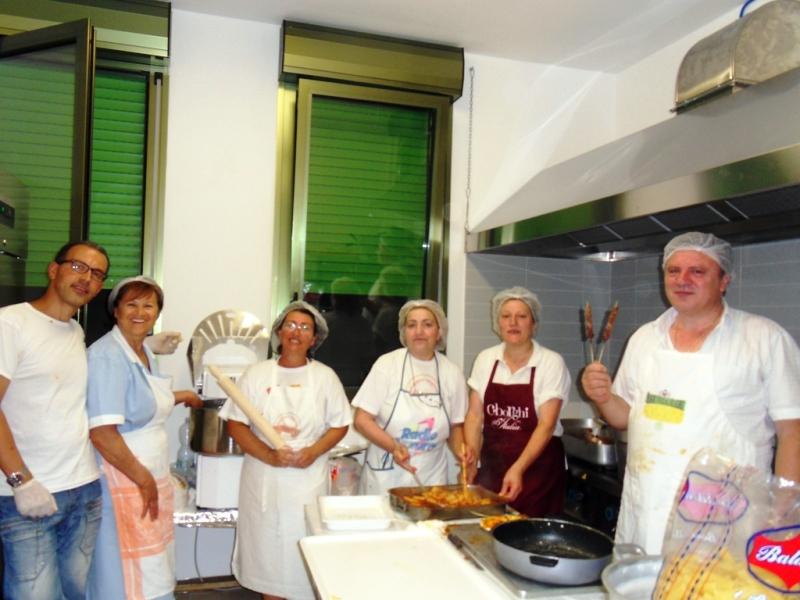 Gruppo staff cucina
