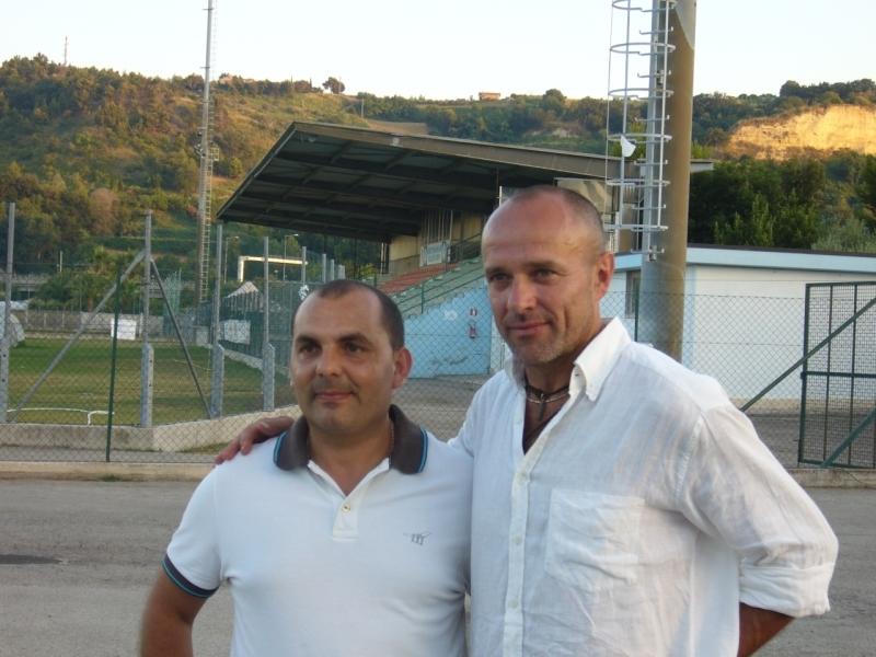 Il Presidente del Grottammare calcio Luigi Furnari ed il Tecnico Giuseppe De Amicis