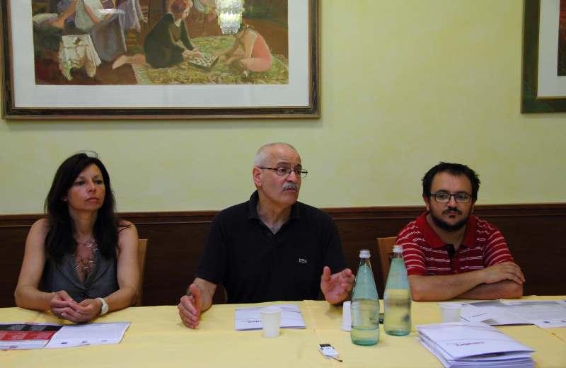 Marche Centro d'Arte con Gloria Gradassi, Lino Rosetti e Dario Ciferri (foto di Andrea Fontana)