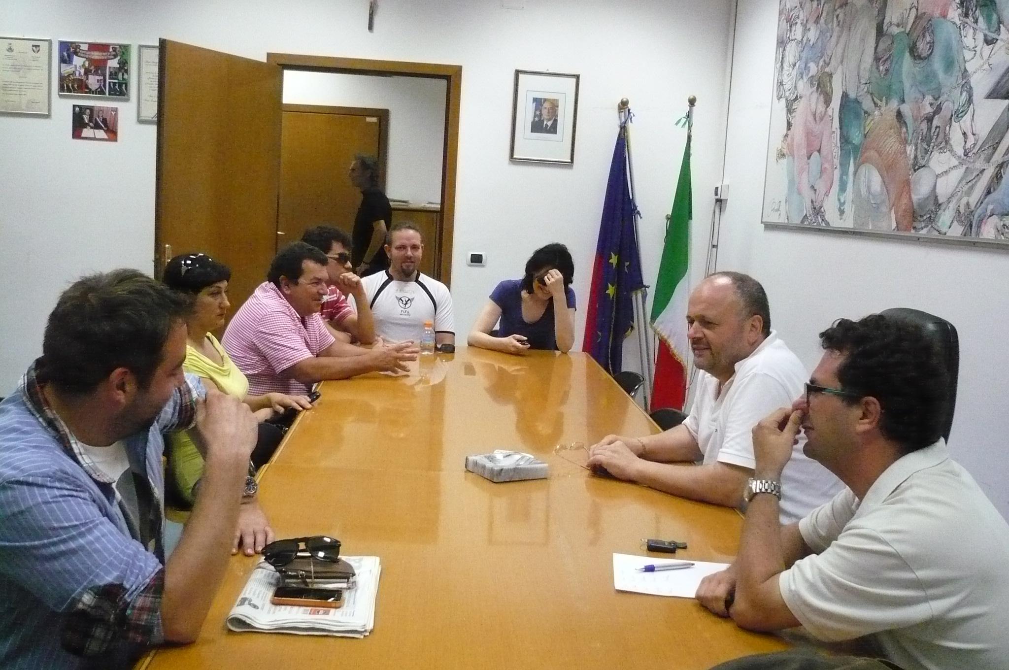 Gaspari e Spadoni a colloquio con i titolari dei locali